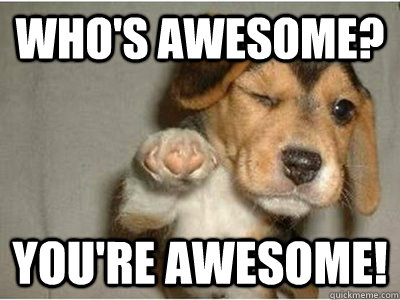 Who's awesome? You're awesome