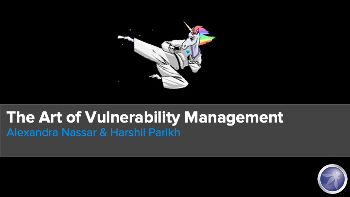 Art of Vulnerability Management title slide